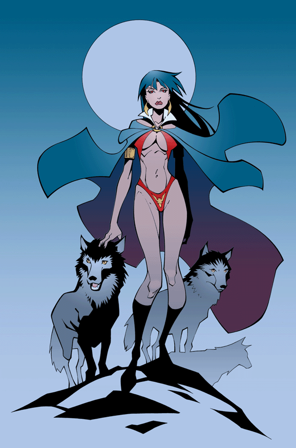 Vampirella in color by RandyGreen