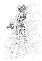 Painkiller Jane in graytones by RandyGreen