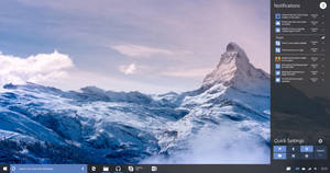 Windows 10 Redstone Action Center