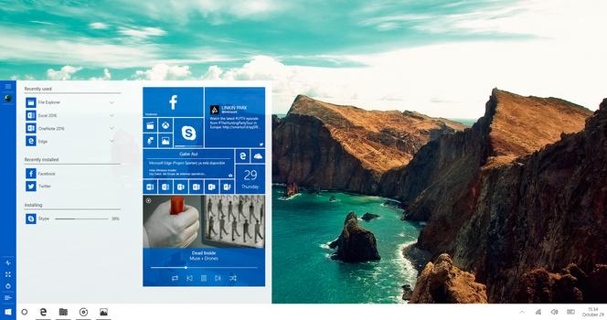 Windows 10 Emerald Expanded Tile