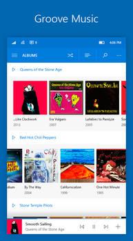 Windows 10 Mobile NEON: Groove Music