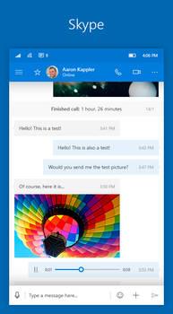 Windows 10 Mobile NEON: Skype