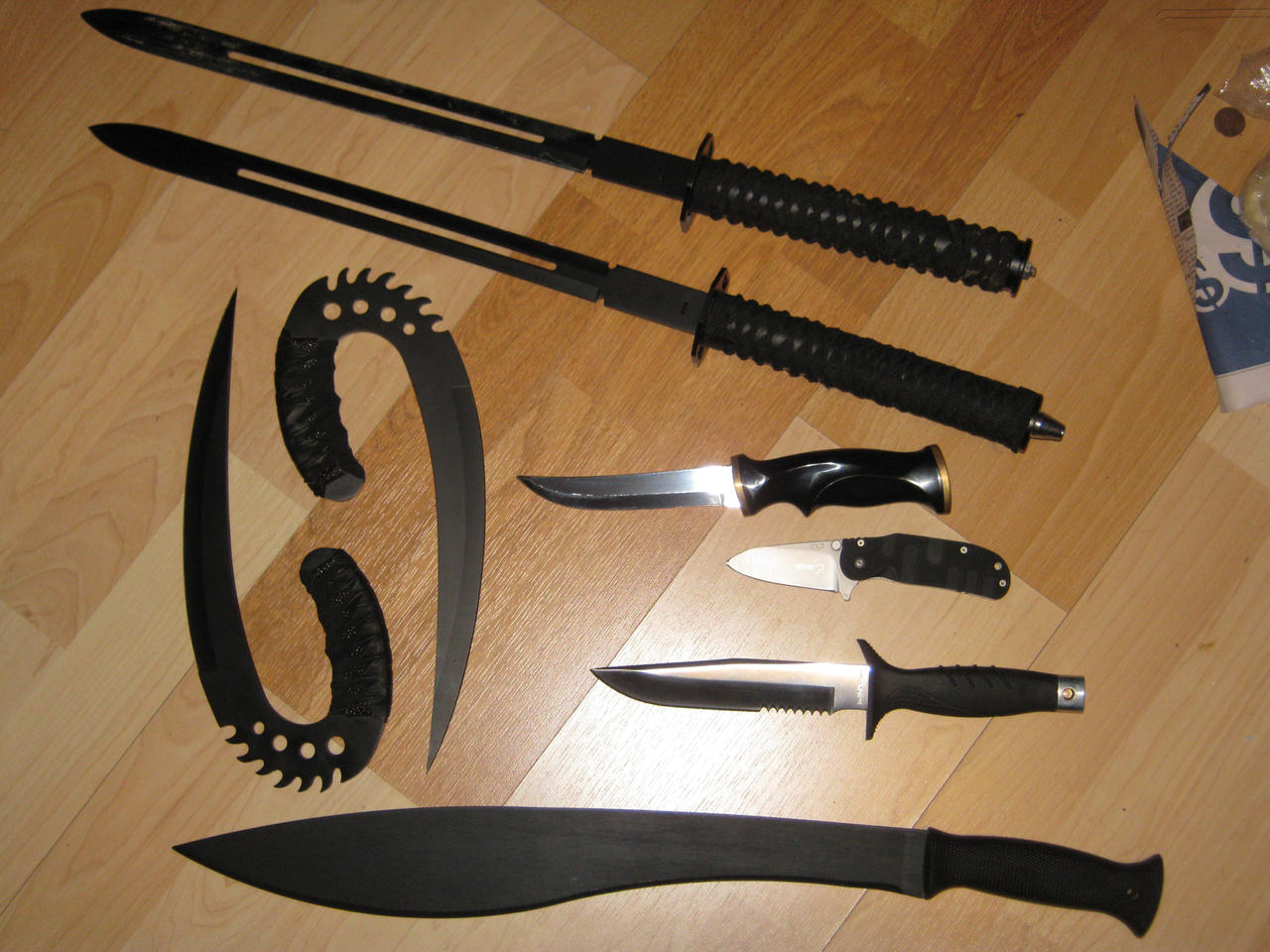 knife collection my knife collection kinda by iysttsunree on deviantart