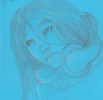 Blue Sketch 002 - Disney Style by JillArth