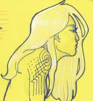 Yellow Sketch 002 by JillArth
