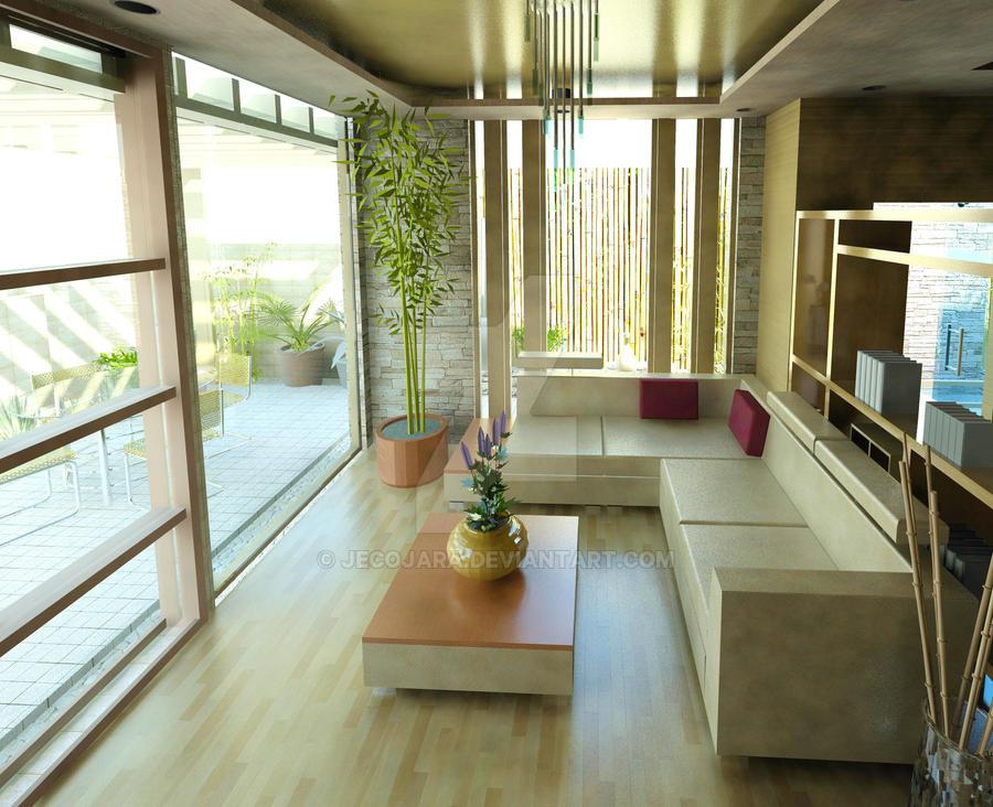 modern house - living room