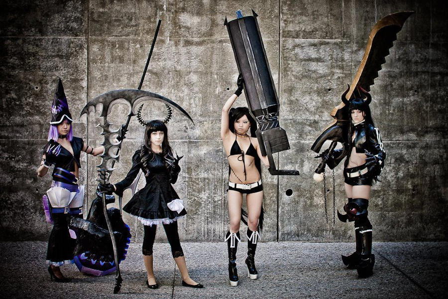 black rock shooter anime cosplay