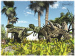 Sinraptors watching Gigantospi