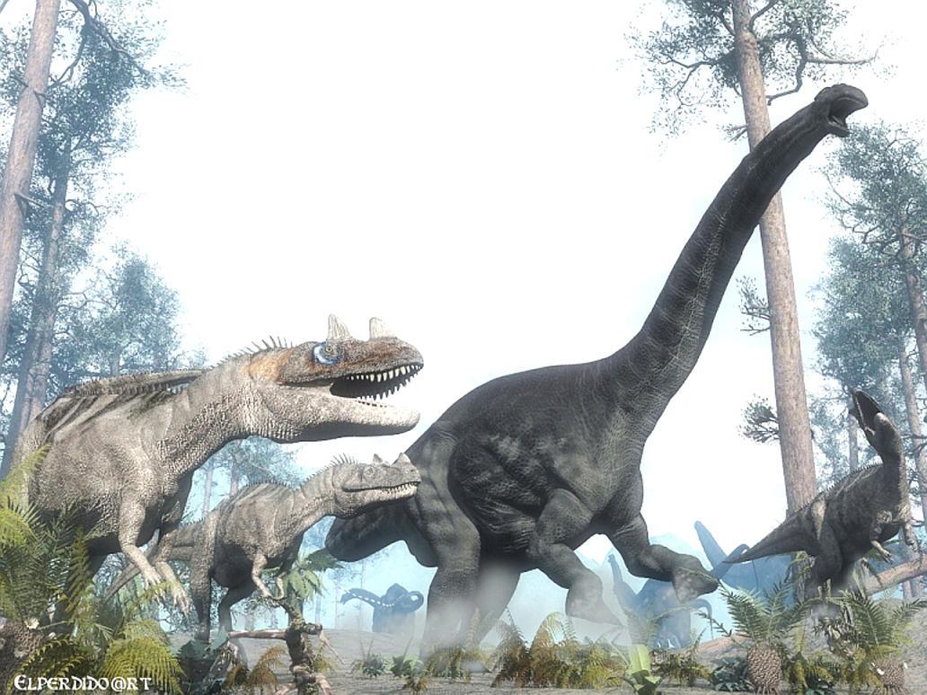Ceratosaurus vs Apatosaurus by Elperdido1965 on DeviantArt