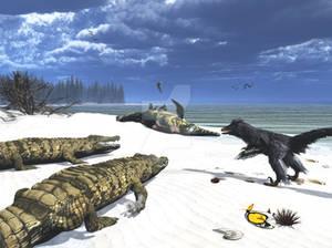 Crocodilia Gogonopholis and Nuthetes