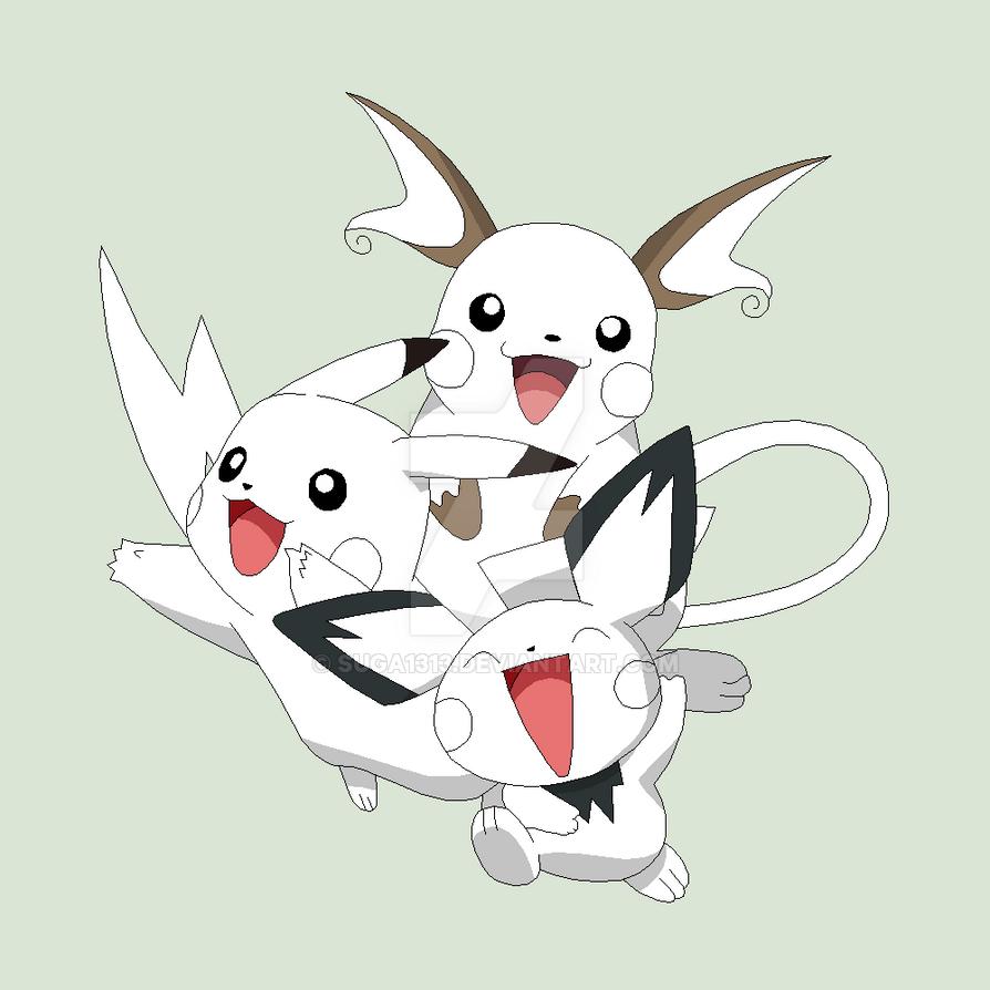 Pokemon Base 16 Pichu Pikachu Raichu 437831536