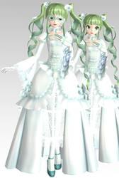MMD PDAFT Rosa Blanca Miku Dl by Rin-Chan-Now