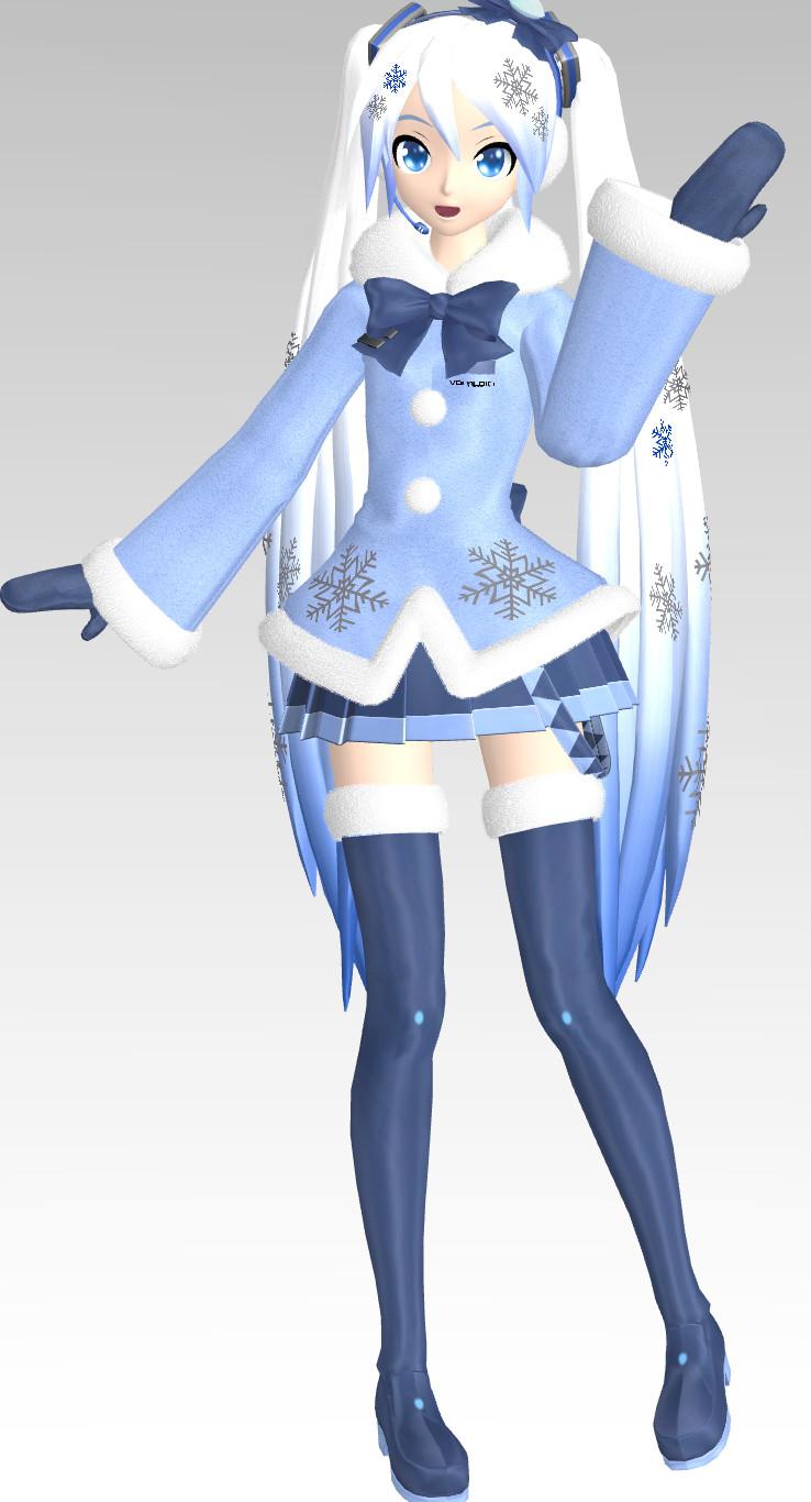 Nendoroid Snow Miku 2012 Revealed   Half Human Being
