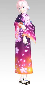 MMD PDAFT Yukata Style Luka Dl