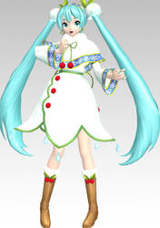 MMD PDAFT Snow Miku 2015 Dl by Rin-Chan-Now