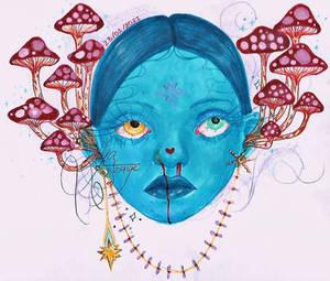 Mushroom deaf girl