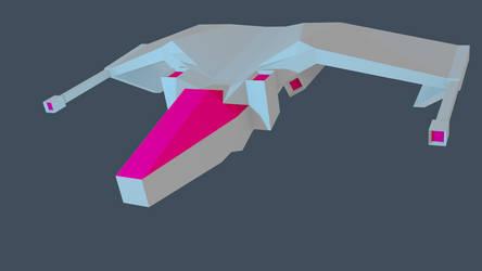 spaceship model by voxeledphoton