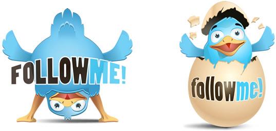 2 Cute Twitter Icons - Free by jeeremie