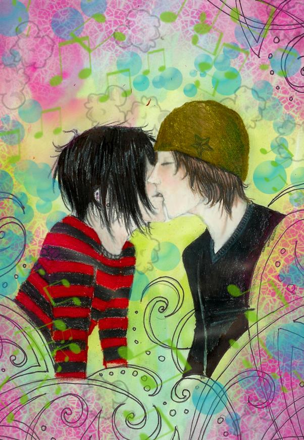 trippy kissin by Ayame-Botan