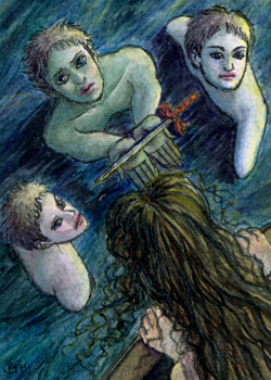 ACEO 7 - The Little Mermaid 07 by sikard