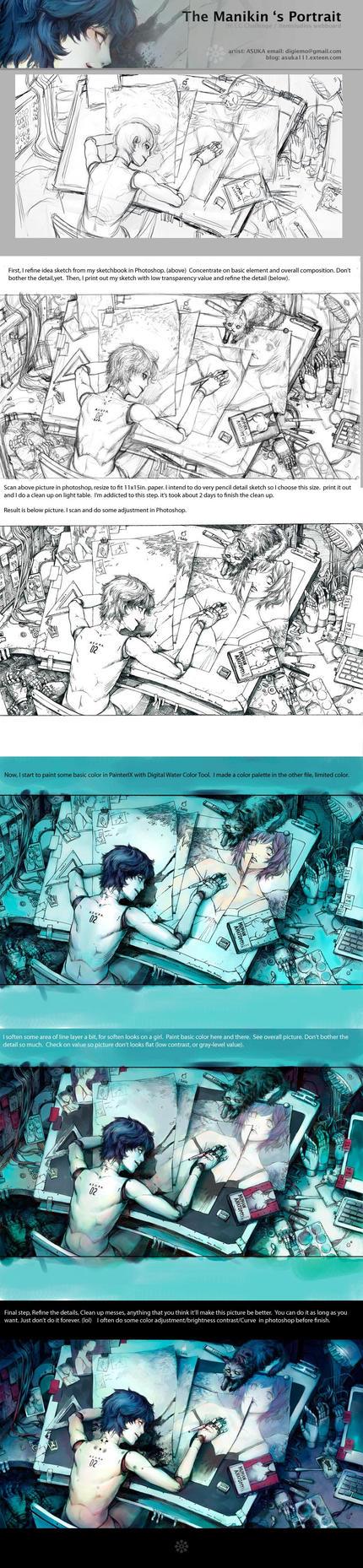 Asuka 's work process by asuka111