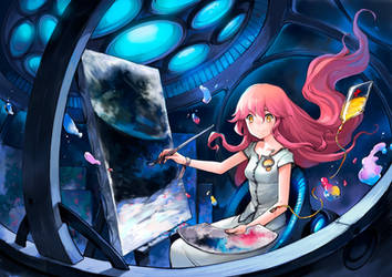 A Painting from the moon by asuka111