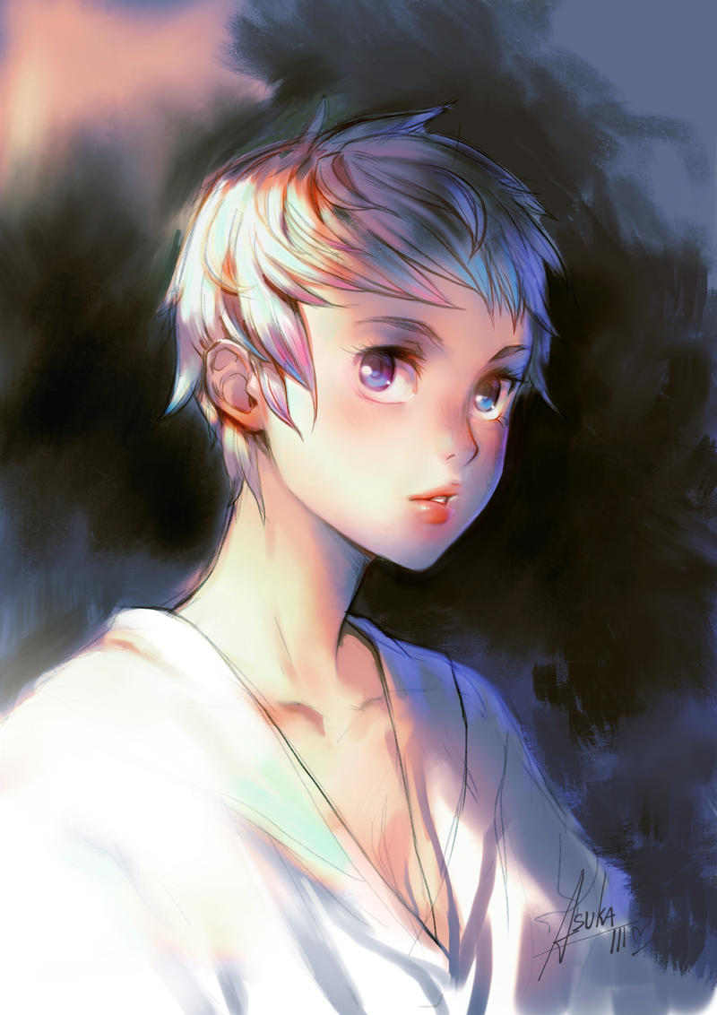 Pixie Cut Girl by asuka111