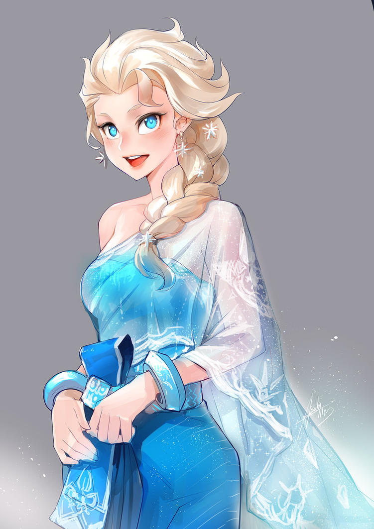 Elsa in Thai dress by asuka111