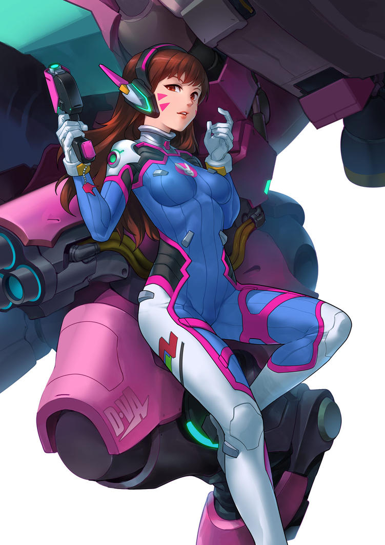 D.VA from Overwatch by asuka111