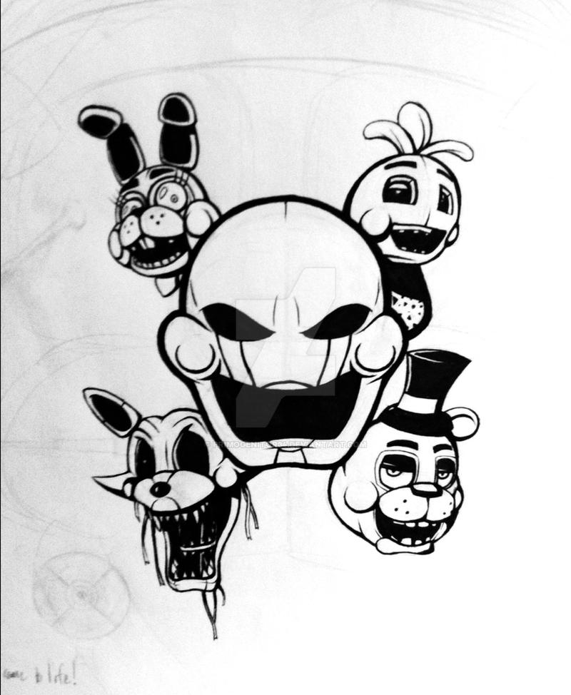 Five Nights At Freddys 2 Shirt Design Wip By Primogenitor34