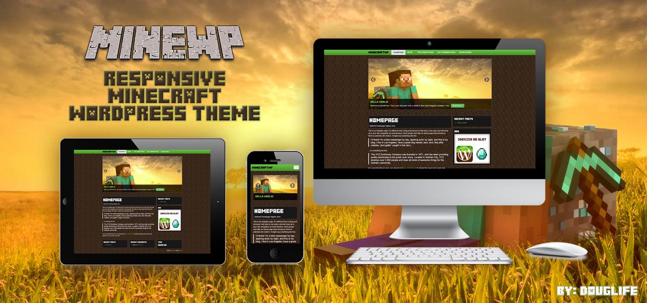 MineWP A Free Minecraft Responsive Wordpress Theme by dlife on ...