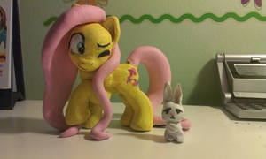 Fluttershy with Angel Bunny