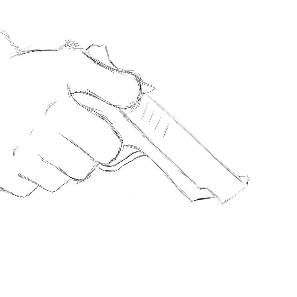 It's just an image of Dashing Man Holding Gun Drawing