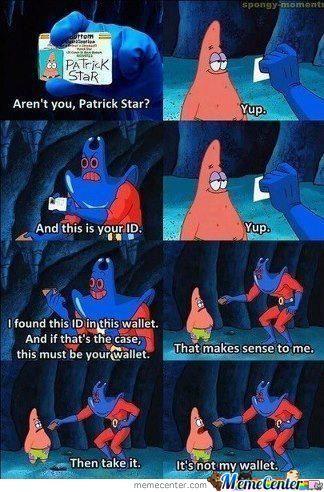Patrick Star Wallet Meme 376858137