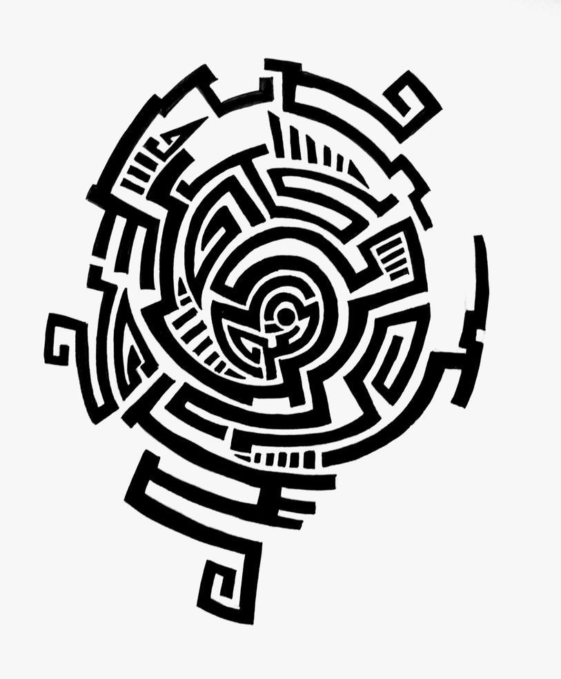 tattoo design maze by feleri on deviantart. Black Bedroom Furniture Sets. Home Design Ideas