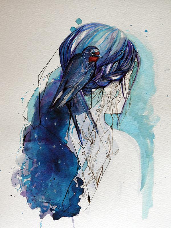 Swallow of the night by Feleri