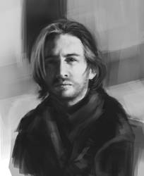 Portrait - value study by Feleri