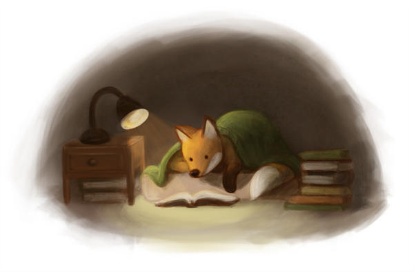 Reading time - fox by Feleri