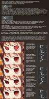 Photoshop Anime Style Eye Colouring Process by ThePhozz
