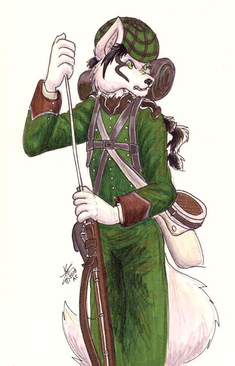 Rifleman WOlf by TarinFirepelt