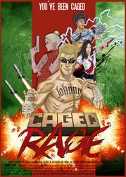 CAGED RAGE (movie poster)
