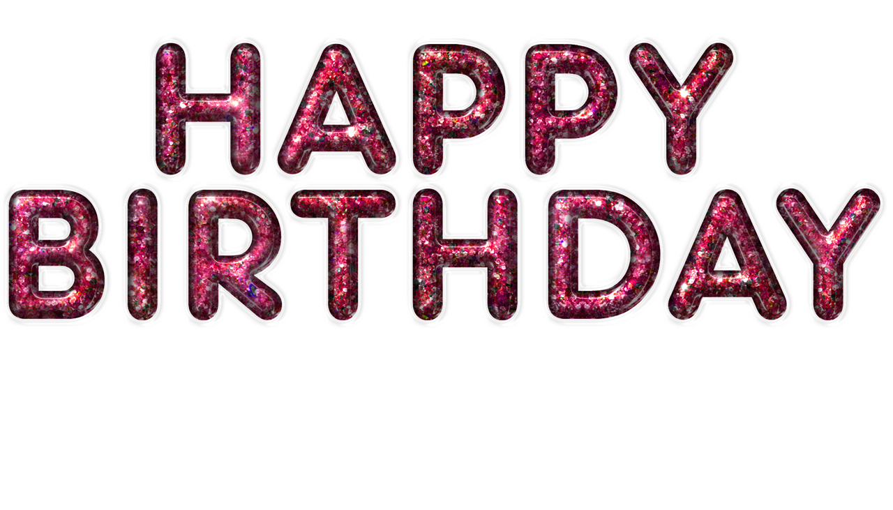 Happy Birthday Glass Design Red PNG By Darkmoon1968 On