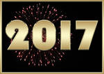2017 - Stock Image - firework and gold