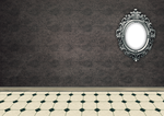 empty room with frame - PNG