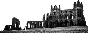 ruin - cathedral - PNG