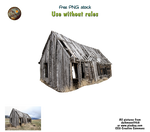 old barn - png stock
