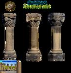 antique pillars  PNG stock