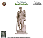 Old stone sculpture statues PNG stock