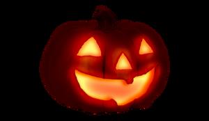 Halloween glowing pumpkin  PNG stock