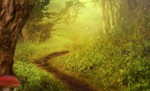Fantasy landscape 05 - premade background